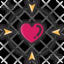 M Target Love Target Focus Love Icon