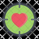 Love Target Heart Sight Heart Icon