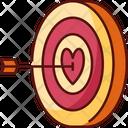 Love Target Target Romantic Icon