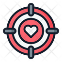 Love Target Love Loving Icon
