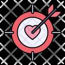 Love Target Target Love Icon