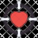 Love Target Love Focus Love Aim Icon