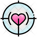 Love Target Heart Love Icon