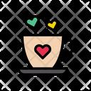 Tea Heart Love Icon