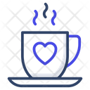Love Tea Love Coffee Valentine Tea Icon