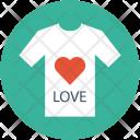 Love Tee Shirt Icon