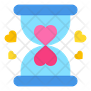 Love Time Hourglass Countdown Icon