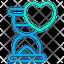 Hourglass Love Heart Icon