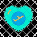 Honeymoon Honeymoon Travel Heart Icon