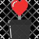 Tree Pot Love Icon