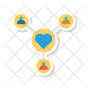 Love Triangle Connection Icon