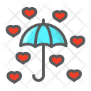 Love Umbrella Icon