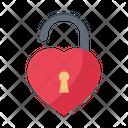 Unlock Heart Love Icon