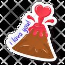 Love Lava Love Volcano Volcano Erupting Icon