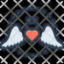 Love Wings Heart Wings Love Angel Icon