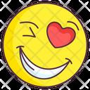 Love Wink Emoji Icon