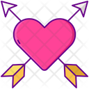 Love With Arrow Icon