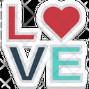 Love Word Romantic Feelings Icon