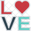 Love Word Romantic Feelings Icon