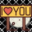 Iloveyou Love You Signboard Icon