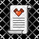 Loveletter Document Romance Icon