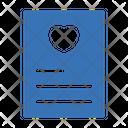 Loveletter Invitation Card Icon
