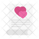 Loveletter Document Heart Icon