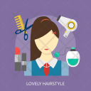 Lovely Hairstyle Hair Icon