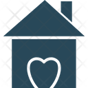 Happy Family Happy Home Heart Sign Icon