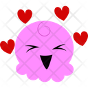 Lovely Pink Cartoon Icon
