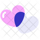 Lover Couple Two Heart Icon