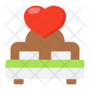 Lover Bed Icon