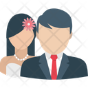 Lovers Husband Wife Marriage Day Icon
