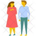 Lovers Walking Icon