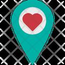 Loving Pin Heart Icon