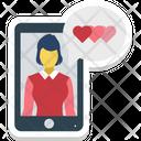 Loving Chat Romance Icon