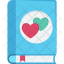 Loving Book Heart On Book Book Icon