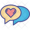 Loving Chat Romantic Chat Bubble Icon