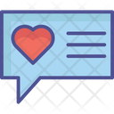 Loving Chat Inspiration Couple Messaging Icon