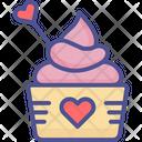 Loving Cupcake Cupcake Cupcake With Heart Icon