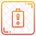 Low Battery Charge Energy Icon