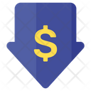 Low Price Low Cost Down Arrow Icon