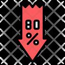 Black Friday Big Sale Arrow Icon
