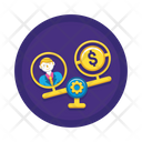 Low Income Low Value Income Icon