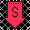 Low Price Money Down Discount Icon