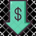Low Price Decrease Price Cheap Icon