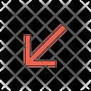 Arrow Left Lower Icon