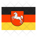 Lower saxony on land Icon