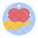 Loyalty Heart Donation Care Icon