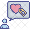 Brand Love Loyalty Icon
